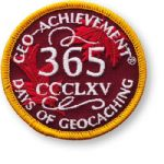 365 Days Of Geocaching Patch